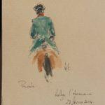 Rallye l'Aumance - Feutre, aquarelle et gouache