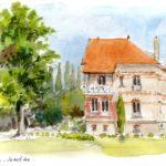 La Presle à Gambais - Feutre et aquarelle
