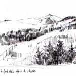 Le Mont Blanc - feutre