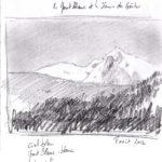 Le Mont Blanc - Crayon