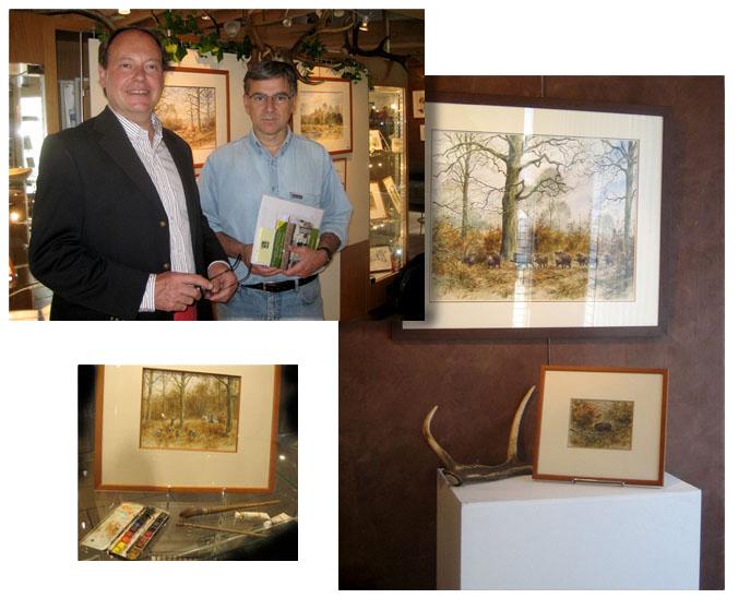 Montfort l'Amaury 2009. L'artiste et Nicolas Bessière