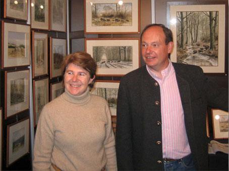 Exposition à Rambouillet 2010. L'artiste et son épouse