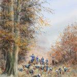 Eq. de Villers Cotterêts - Gouache - 30x20 - A7995
