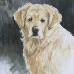 Golden Retriever - Gouache - 20x30 - G1233