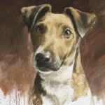 Fox Terrier - Gouache - 47x36 - G5697