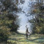 Cerf en automne - Gouache - 59x49 - G5699