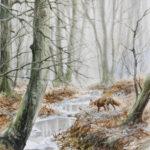 Le renard et la mue - Aquarelle - 26x20 - A9686