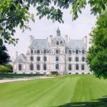 Château de Beaumesnil - Aquarelle - A4560