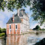 Château de Beaumesnil - Aquarelle - A4568