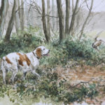 Epagneul Breton - Aquarelle - 20x26 - A6174