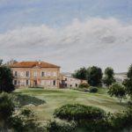 Château de Prunet - Aquarelle - A6722