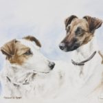 Fox Terrier - Aquarelle - 26x36 - A8583