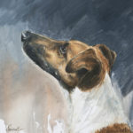 Fox terrier - Gouache - 20x20 - G1641