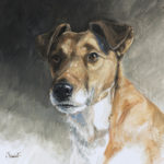 Fox terrier - Gouache - 38x38 - G3928