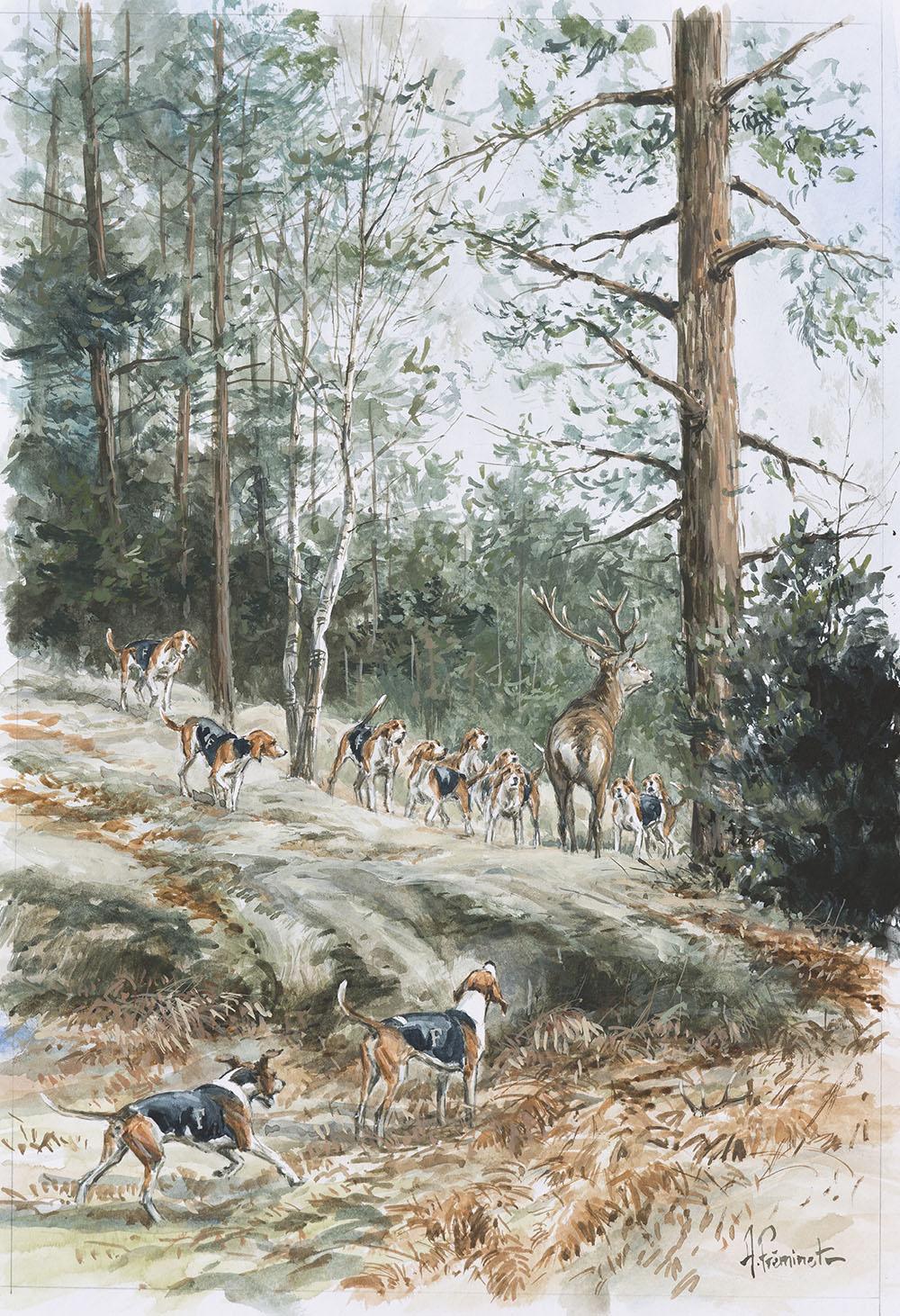 R. Fontainebleau - Aquarelle - 30x20 - A4653 - 460€