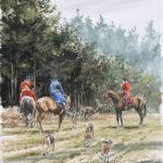 R. Vouzeron et E. de la Chapelle au Bois - Aquarelle - 30x20 - A4698 - vendu