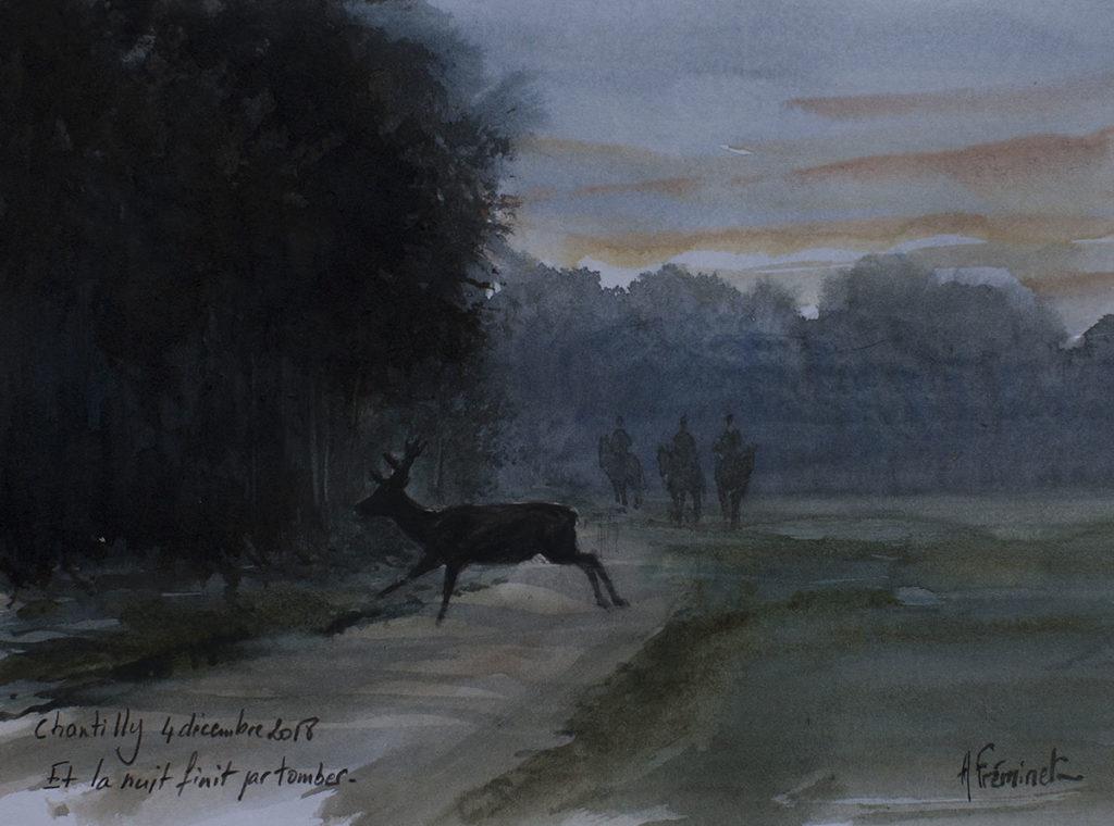 Trois Forêts - Aquarelle - 14,5x20,5 - C7898