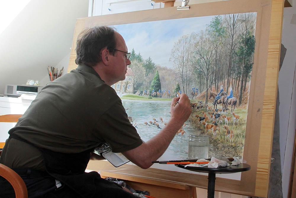 Grande aquarelle en cours