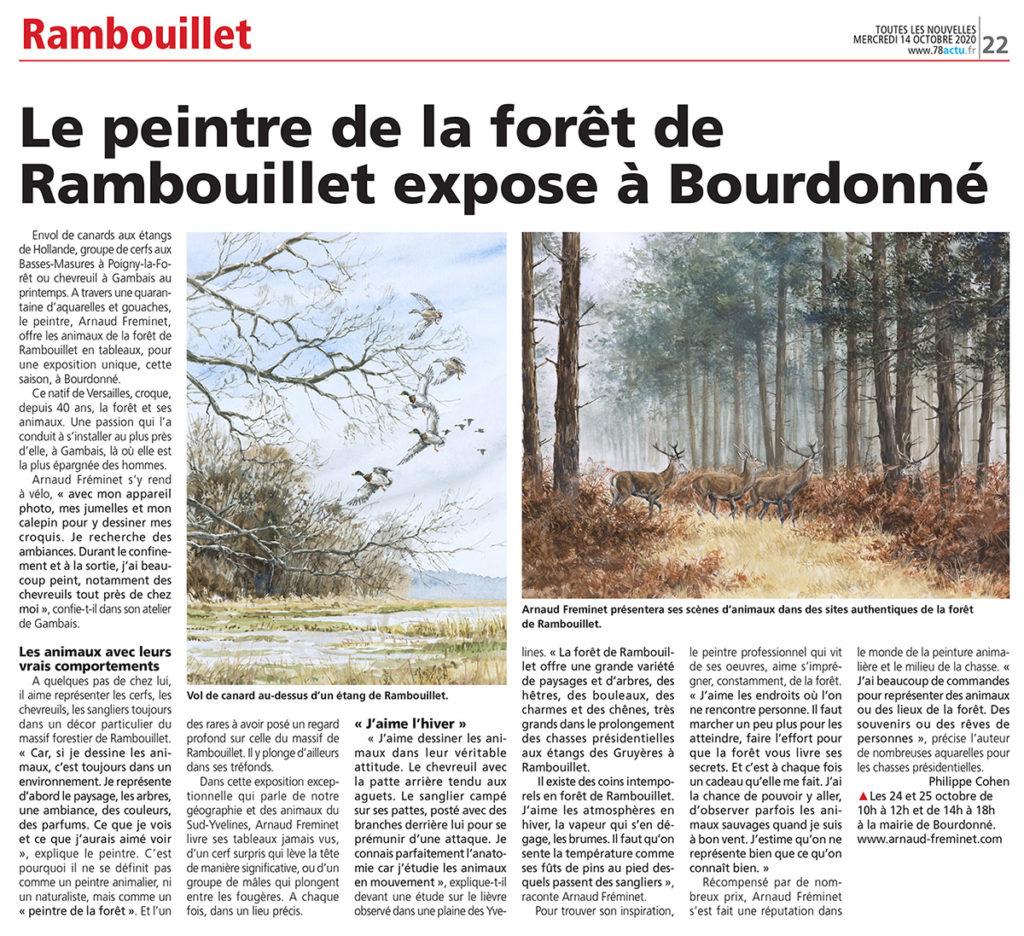 Article Les Nouvelles de Rambouillet Oct 2020